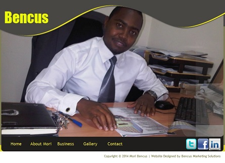 Personal Website Designed by Bencus Marketing Solutions