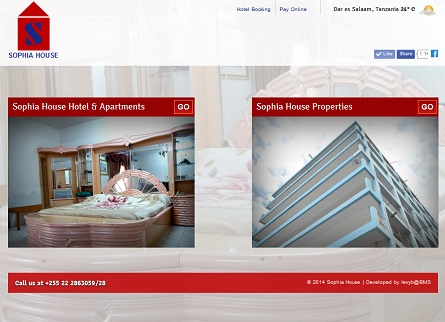 World class Hotel website designed by Bencus Marketing Solutions